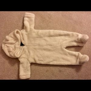 Baby Gap Sherpa Bear footed one-piece.